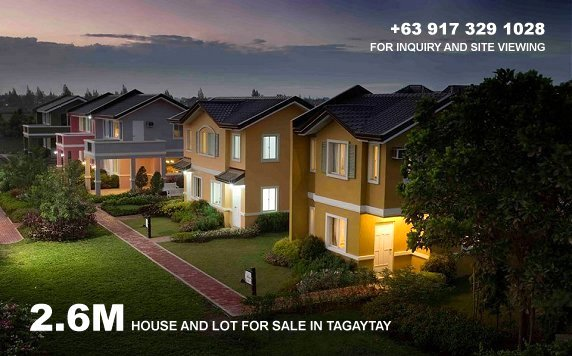Camella Silang Tagaytay House and Lot for Sale in Tagaytay City Philippines